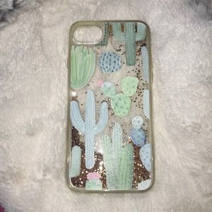Glitter Cactus iPhone 7 case